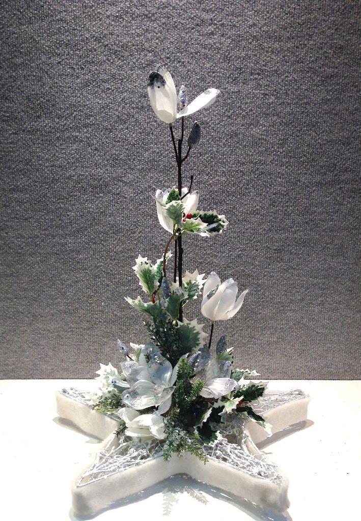 Christmas Star Arrangement  www.designelementflowers.com