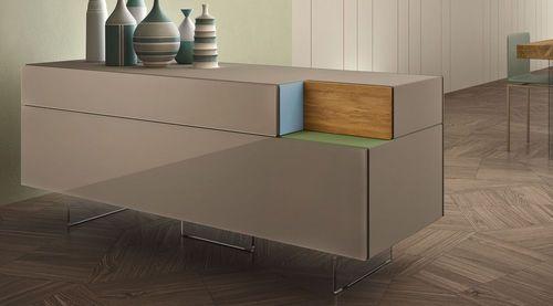 Credenza moderna / in legno laccato brillante 36E8 by Daniele Lago LAGO
