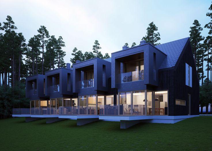 LK&1188 projekt domów w zabudowie szeregowej.