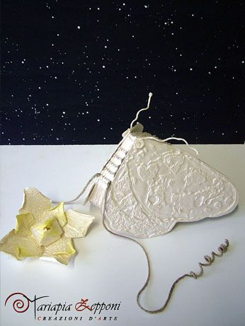 Handmade paper guestbook Amazing wedding accessories by Mariapia Zepponi Italy