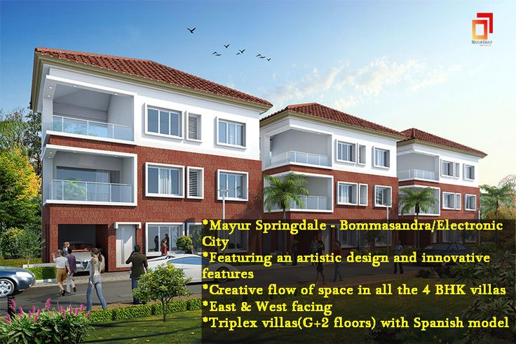 The #resort life #style #villa at #Mayur #Springdale-Bommasandra/Electronic City