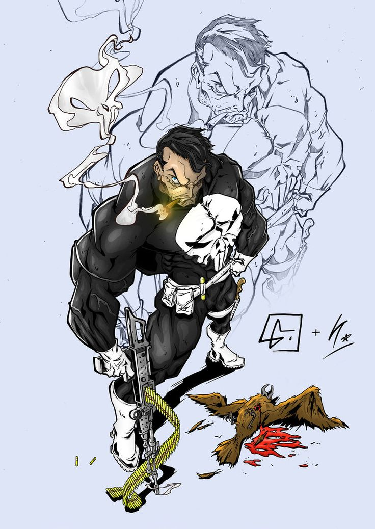 I really loved this sketch of the Punisher by Luis Figueiredo that i thought i would practice my digital ink and colour work Here's the original pencil sketch Really had fun on this one.