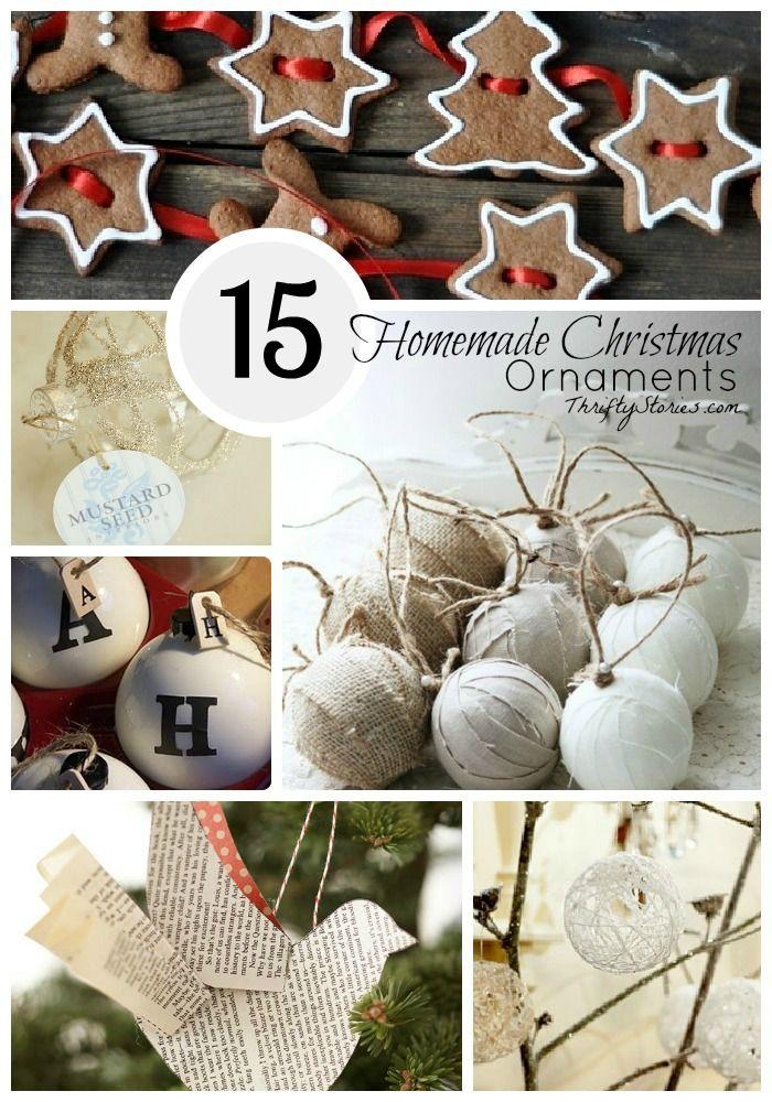 Fifteen Homemade Christmas ornaments to enjoy this season  ThriftyStories.com