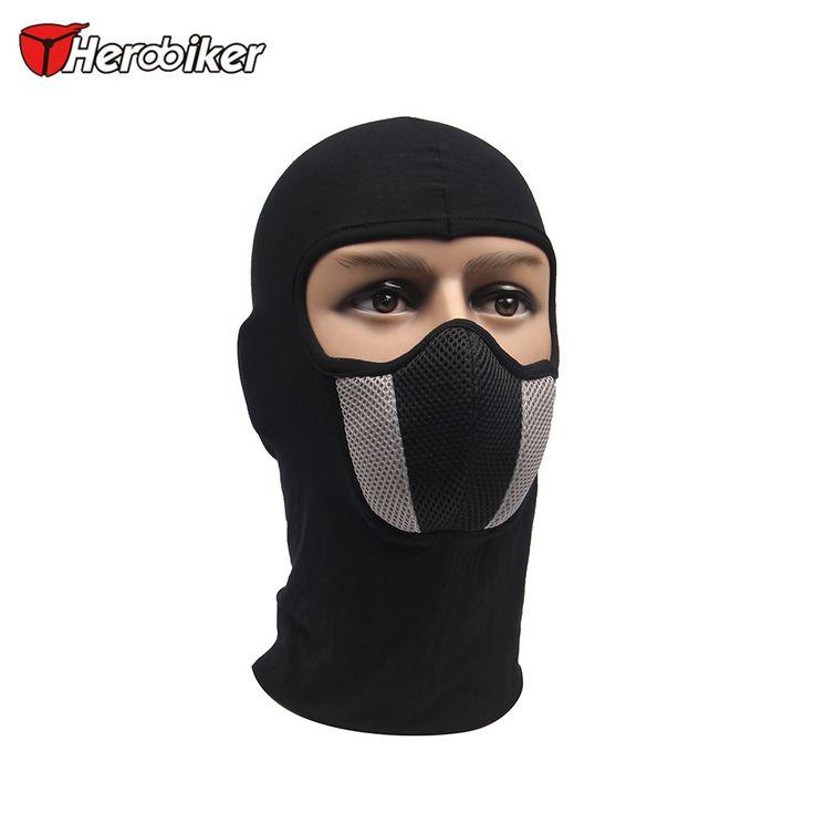 HEROBIKER Men's Motorcycle Face Mask Outdoor Motorcycle Helmet Hood Ski Sport Neck Face Mask Windproof Dustproof Red And Gray  Price: 5.57 USD