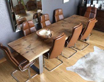 SLAB OAK TABLE Large Solid Oak Tabletop on by HardmanDesignBuild