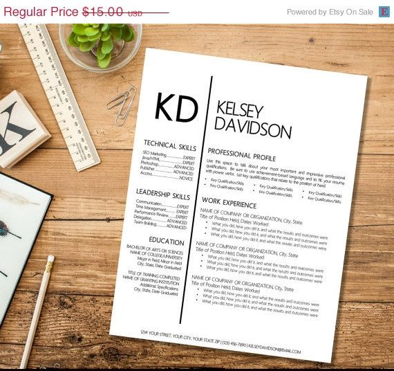 vacation resume template instant download digital file customizable templates word free 2017 google docs pages