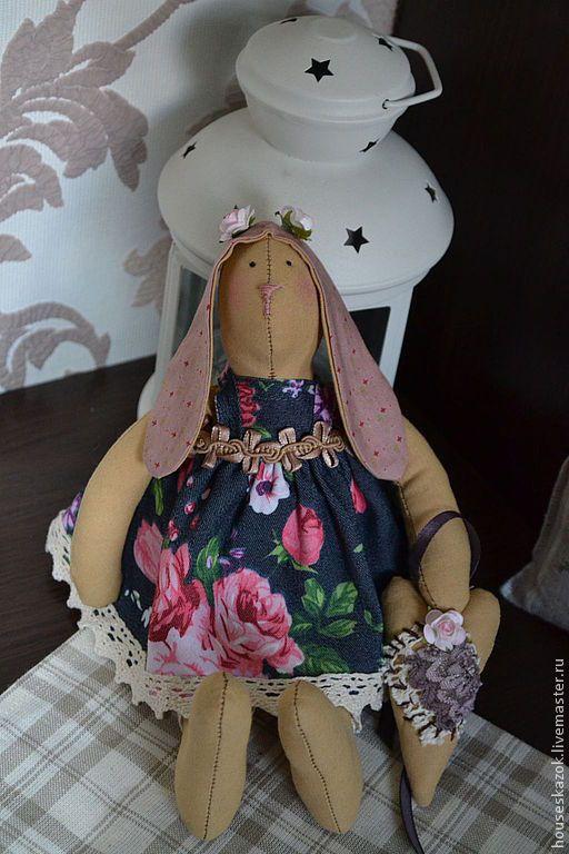 Купить Зайка тильда (Романтичная Адель) - подарки ручной работы, подарки для души, тильда