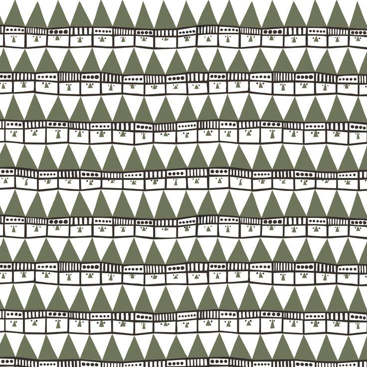 Frösö Handtryck - Hej tomtegubbar, design av Inger Westerberg /Froso Handtryck - Hello santa, design by Inger Westerberg