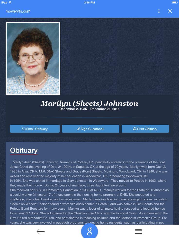 10 best Beloved Grandparents images on Pinterest Grandparent - 35 printable obituary
