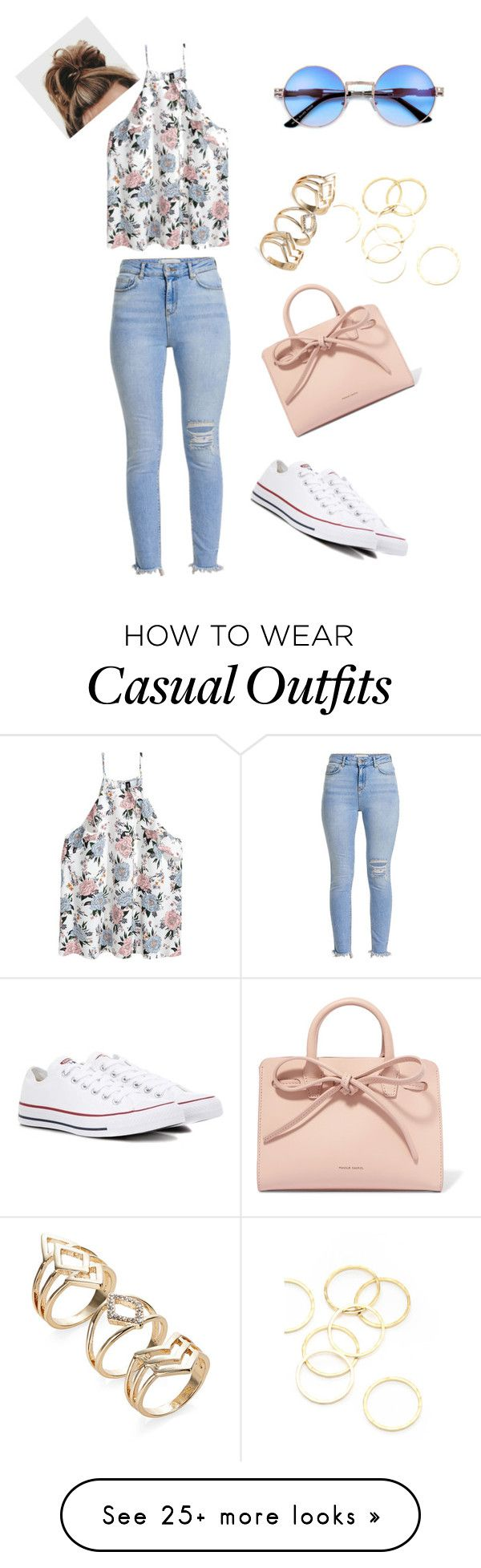 """Casual but cute"" by taylorgonzalez580 on Polyvore featuring Converse, Mansur Gavriel and A.V. Max"