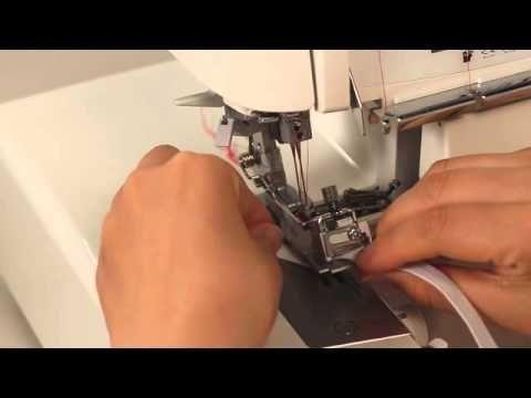 JUKI®Serger MO-Elasticator Presser Foot - YouTube