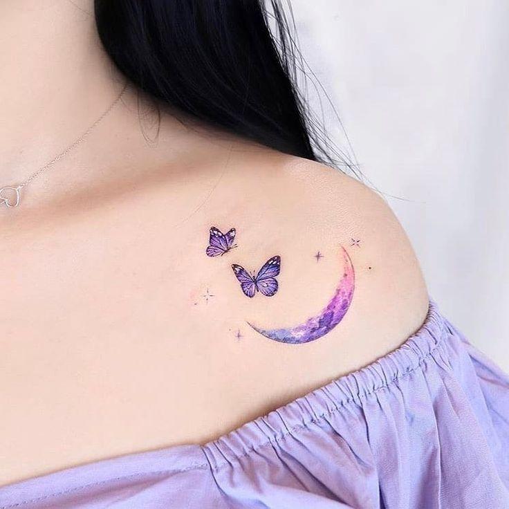 37 Dainty Moon and Stars tattoo 🌙 in 2020 Tiny tattoos