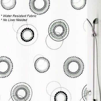 78 Inch Long Shower Curtain Fabric | Shower Curtains Luna Fabric Shower  Curtain Luna Fabric Shower