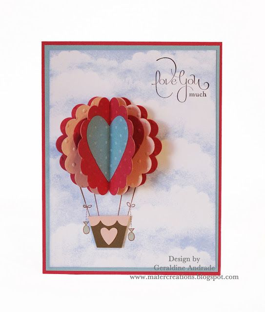 Mafer's Creations: VALENTINE'S HOT AIR BALLOON CARD