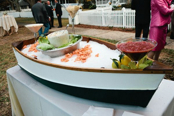 Wedding Food Ideas Get Creative I Do Knot: Wooden Boat Seafood Display