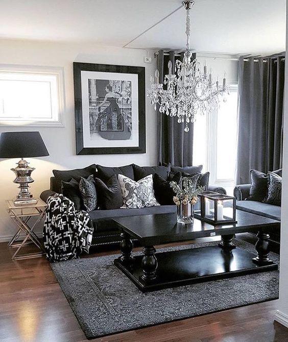 ᒪiving Room Ideas | Tea Table | Chic | Lighting | Chandelier | More inspirations at https://brabbu.com/