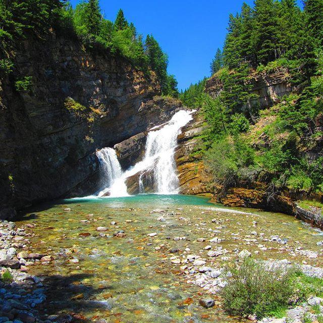 Canadian waterfalls to swim in