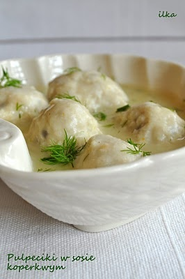 Pulpeciki w sosie koperkowym. (Meatballs in dill sauce). My favorite Polish dinner.