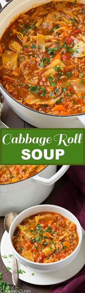 Cabbage Roll Soup - so much easier than stuffing cabbage rolls! This soup is so…