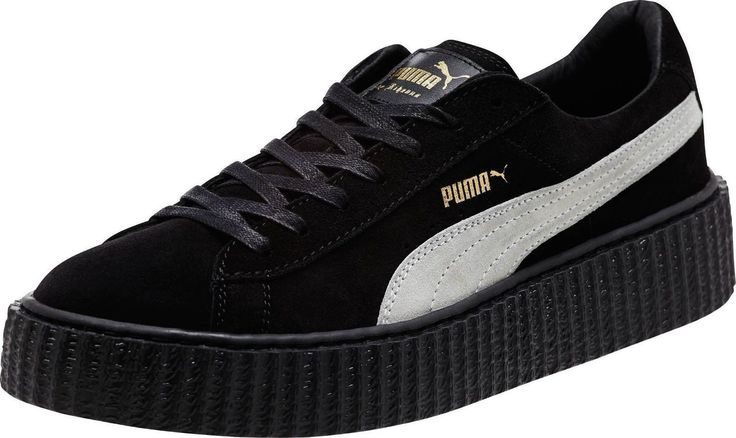 Mens Puma Suede Creepers Rihanna Fenty Fashion Casual Black WHT 362178 01 Suede