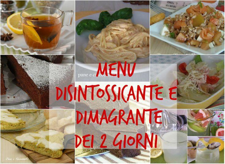 Ricette dietetiche Menu Depurativo e Dimagrante dei 2 Giorni
