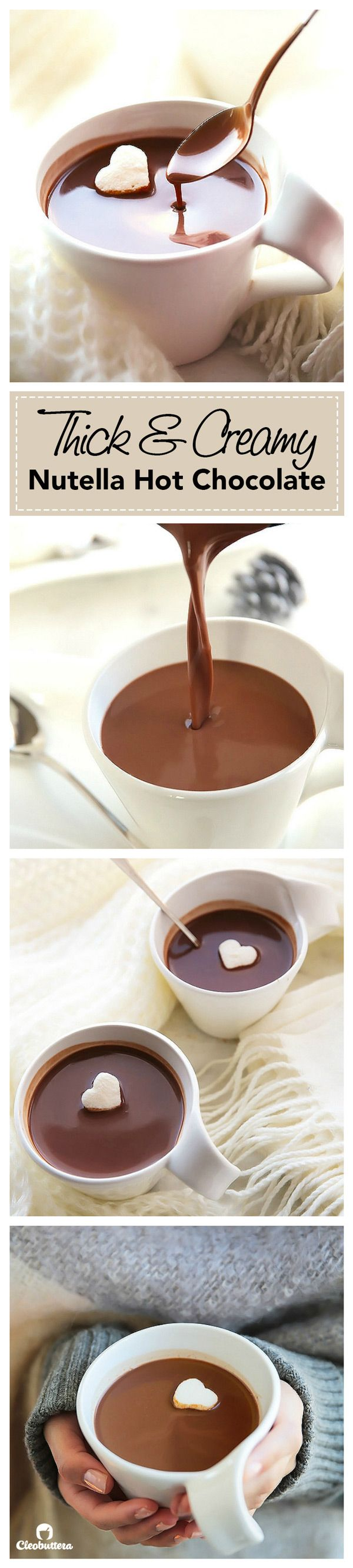 This is as close as you could get to drinking NUTELLA in liquid form. Dreamy!