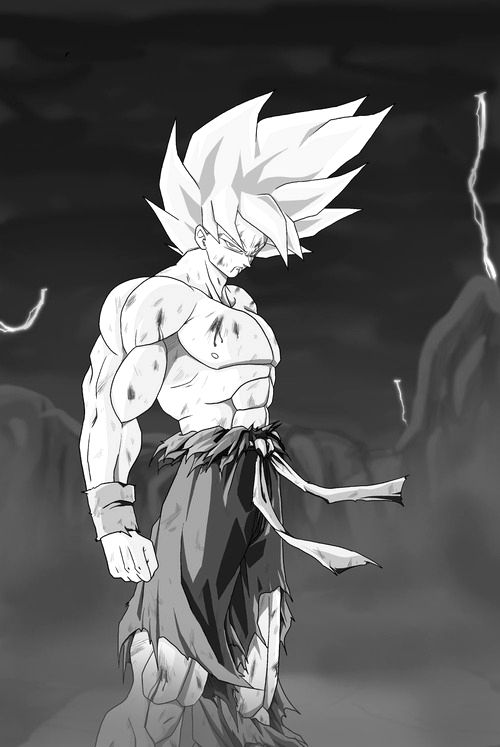 Dragon Ball Z Goku Fan Art Drawing. The most Epic moment in dbz!!!