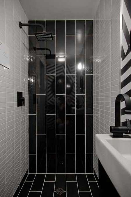 tile subway tile bathrooms narrow bathroom bathroom tile designs black