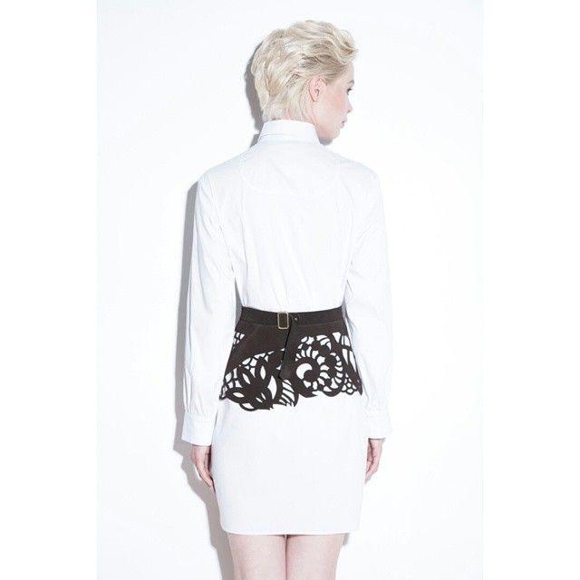 #2015 #Moscow #basque #dress #fashion #white #платьерубашка #баска #белый #nakedstudio