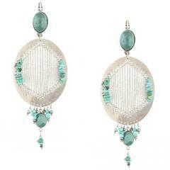 Saravah Turquoise Earrings by Satellite Paris