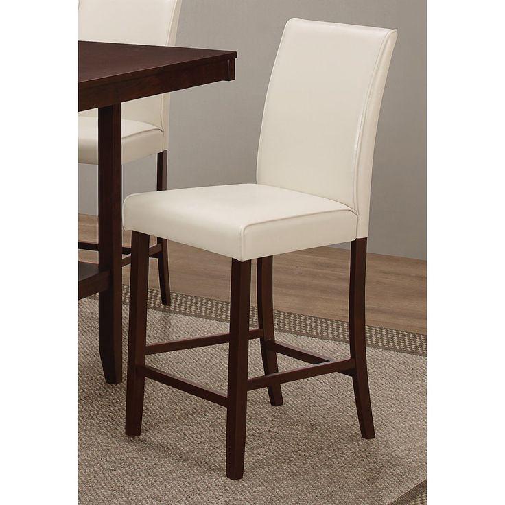 coaster company cream leatherette counter height chair counter height chair brown wood