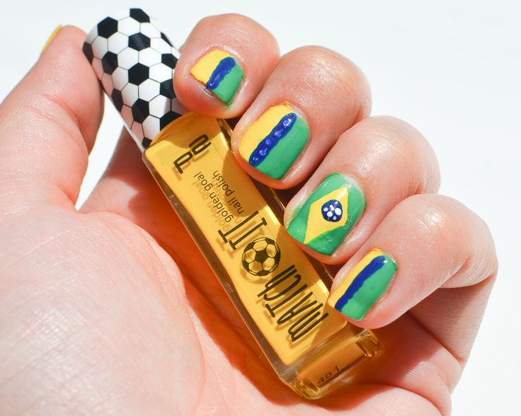 World cup nails Brasil - WK voetbal nagels Brazillie