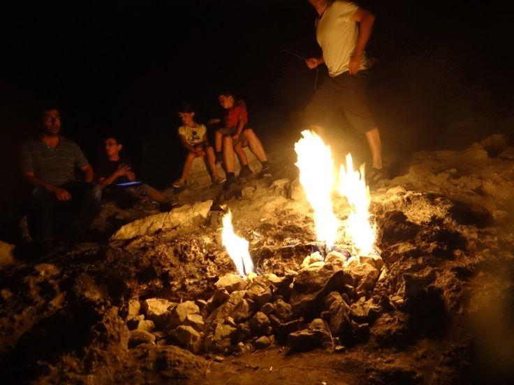 Cirali Turkey flames of Chimera at Yanartas