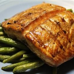 Grilled Salmon (marinated in brown sugar and worcestershire sauce) Recipe via @SparkPeople
