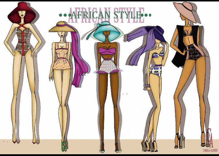 Esta colección esta inspirada en las siluetas y diversidad animal que nos ofrece África, con una serie de prendas diseñadas para la playa que marcan estilo con una serie de estampados.   Esta diseñada para mujeres alegres que les guste el color llamativo y las prendas escotadas.
