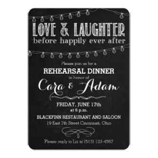 Choose this chalk-style invitation for your rehearsal dinner guests. Or choose from a variety of other styles, sizes and paper types or customize to suit your fancy, adding your own photographs. You can even print your invitations on high quality vinyl laminated magnetic cards with a high gloss finish and full-color printing. Need more wedding accessories?  Visit us at http://www.weddedbliss.us