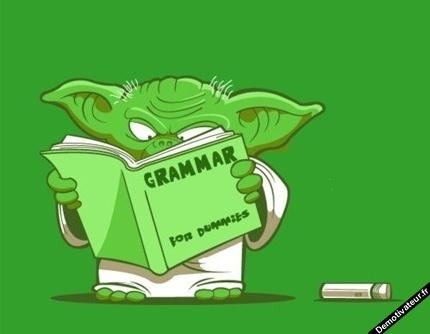 learn grammar Yoda must