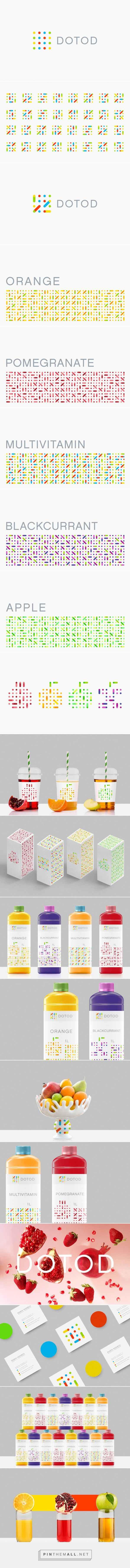 DOTOD #fruitjuice #packaging designed by Ramin Nasibov - http://www.packagingoftheworld.com/2015/07/dotod.html