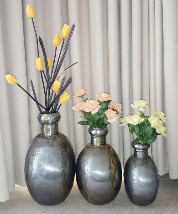 India Metal Vase Metal Water Canister by Penelainbricandbrac