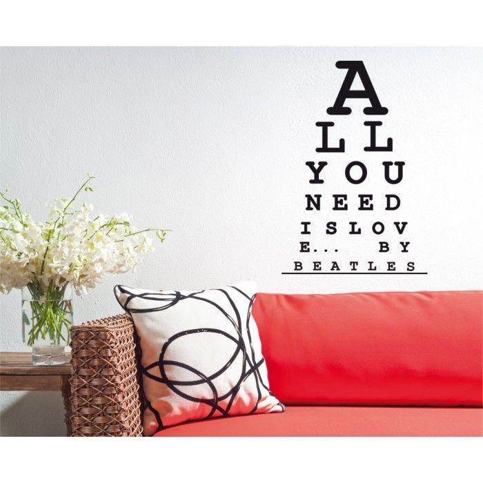 Sticker da muro Oculista Innamorato by Decoramo