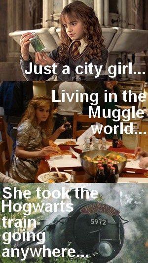 Apenas uma garota da cidade ... vivendo no mundo dos trouxas ... ela pegou o trem de Hogwarts vai a lugar nenhum ...