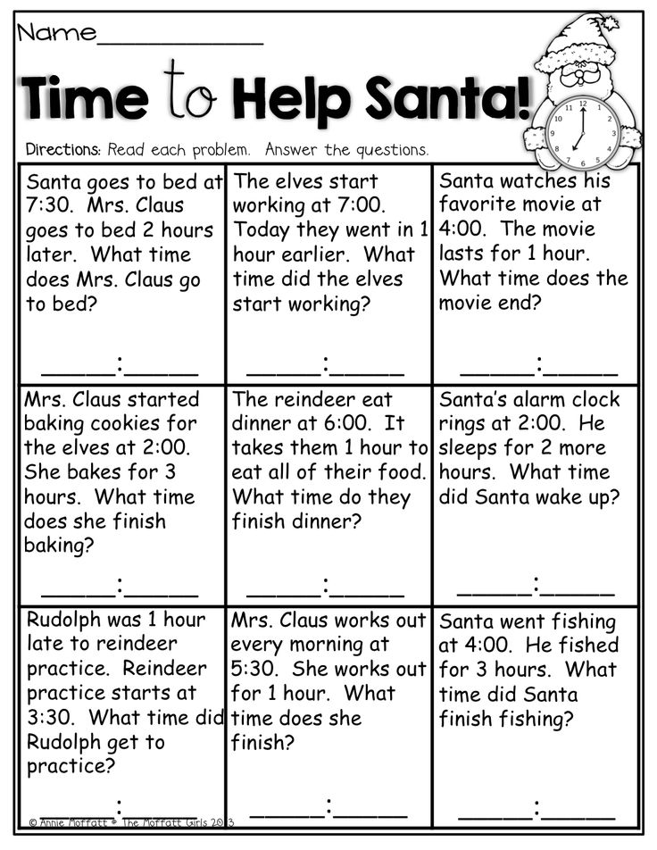 time to help santa simple word problems about time so helpful 1st grade activities. Black Bedroom Furniture Sets. Home Design Ideas