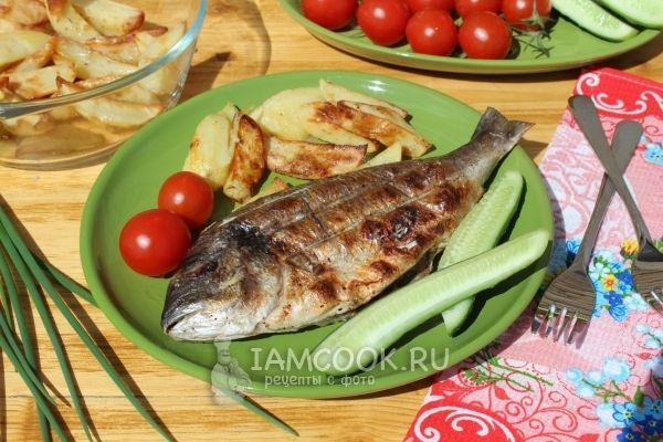Фото рыбы на мангале