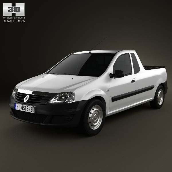 Renault Logan Pickup 2011 3d model from humster3d.com. Price: $75