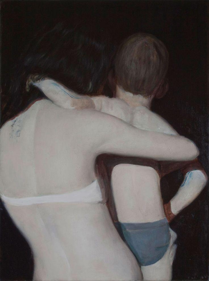 Hay tantas cosas que me gustan de la obra de Alexander Tinei. Su pincelada segura y clásica, sus colores fríos, los fondos negros, sus modelos de piel pálida, la luz que reflejan estas, sus espalda, las melenas, los trazos azules…              Alexander Tinei …