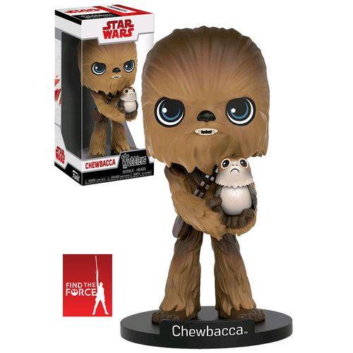 Funko Wobblers (Wacky Wobbler) Star Wars The Last Jedi - Chewbacca With Porg - New, Mint Condition.  https://www.supportivepc.com/funko-wobblers-wacky-wobbler-star-wars-the-last-je  #Funko #Wobblers #FunkoWobblers #StarWars #Collectibles