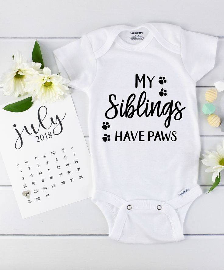 Perfekte Haustier themenorientierte Babymitteilung und Schwangerschaft decken auf! – Baby