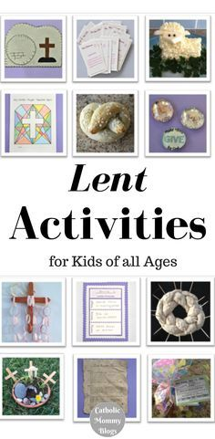 Lent crafts and activities for Catholic kids, teens and Catholic families to do together. Get ideas on how to celebrate the Lenten season as a Catholic, tips, examples, and even a free coloring book, courtesy of fellow Catholic moms and Catholic bloggers.