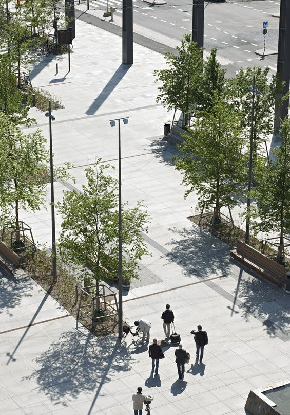 Hyllie Plaza | Malmo Sweden | Thorbjörn Andersson with Sweco Architects « World Landscape Architecture – landscape architecture webzine