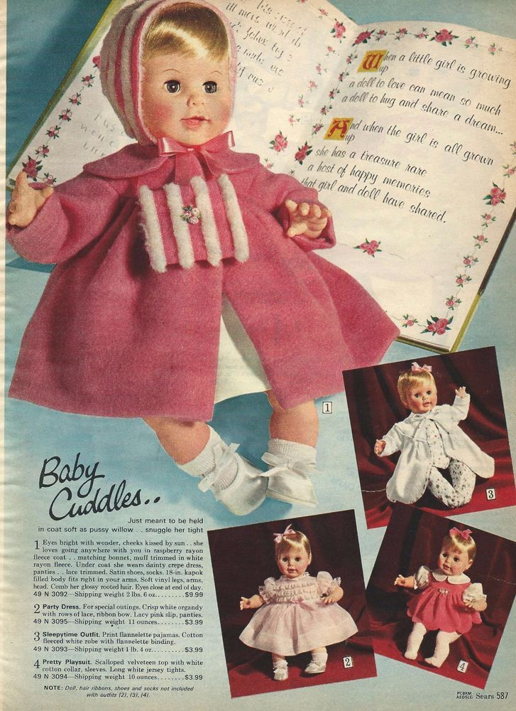 Details About 1967 Sears Christmas Catalog Page Baby